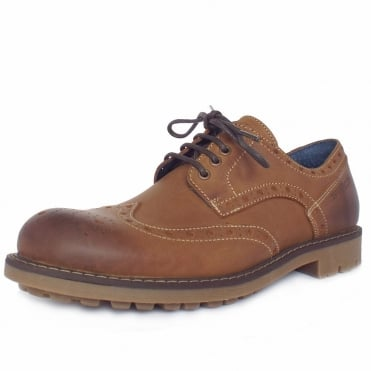 Camel Active Everton Rocker Crazy Horse Men's Sporty Brogues in Cinnamon Leather