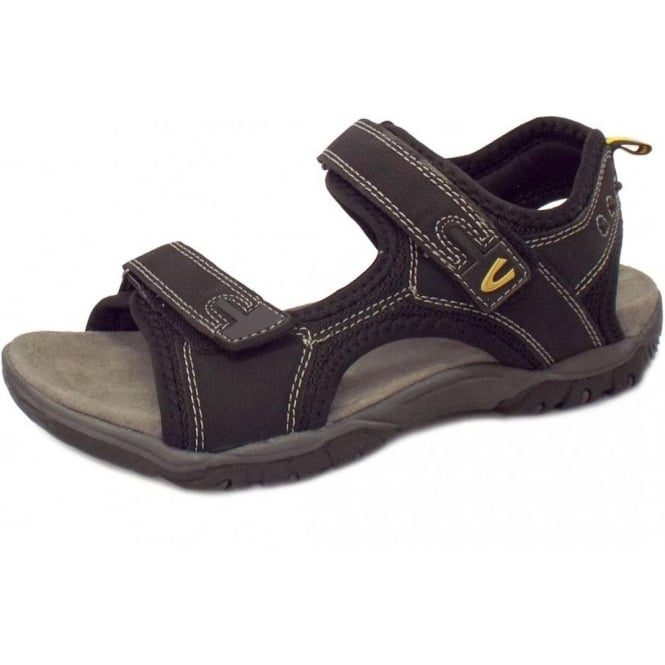 Camel Active Freddi Men's Velcro Sandal in Black