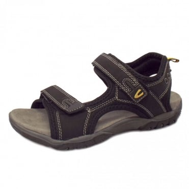 Freddi Men's Velcro Sandal in Black