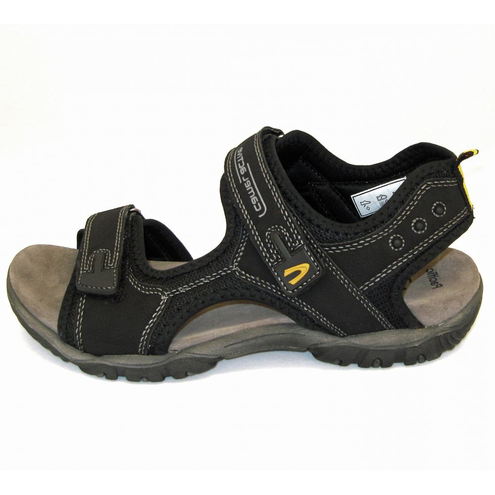 Camel Active Freddi Pacific in black | Mens Sandals | Mozimo