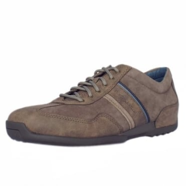 Gregory Space Men's Casual Lace Up Trainers In Taupe