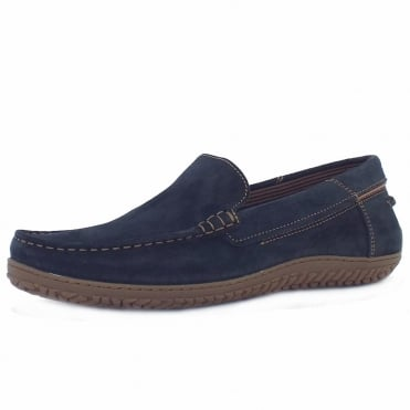 Camel Active Hamble St. Tropez Men's Casual Driving Shoes in Midnight Oiled Suede