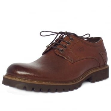Harvard Men's Casual Brogues in Nut Brown Leather