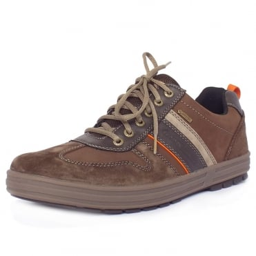 Knockout Men's Casual Lace-Up Gore-Tex Lining Shoes in Mocca