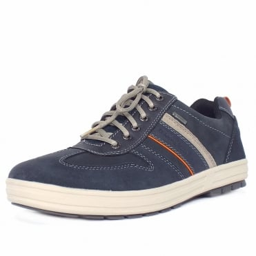 Camel Active Knockout Men's Casual Lace-Up Gore-Tex Lining Shoes in Navy