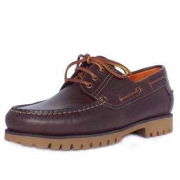 Oracle Portlight Men's Casual Boat Shoes in Mahogany Brown Leather