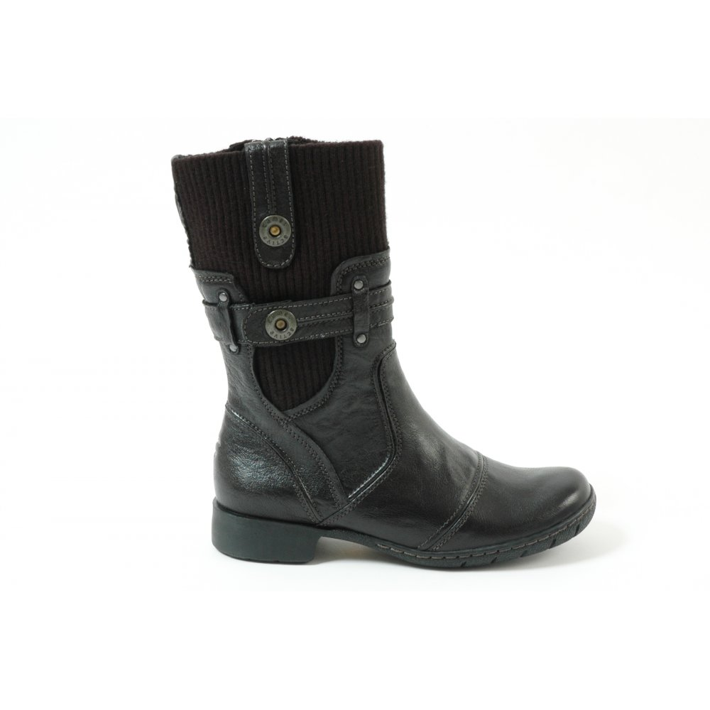 camel active ladies casual short boots in black. Black Bedroom Furniture Sets. Home Design Ideas