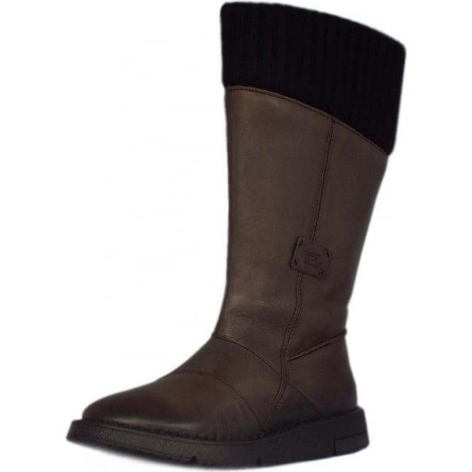 Camel Active Stephanie Balance Calf Length Boots in Grey Leather