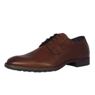 Utah Como Men's Smart Shoes in Cognac Leather