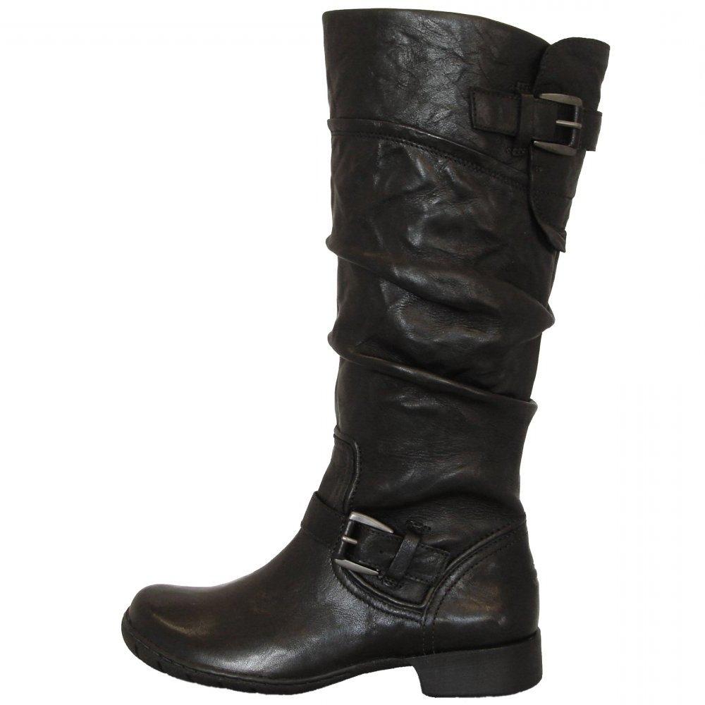 camel active vegas long boots in black leather buy. Black Bedroom Furniture Sets. Home Design Ideas