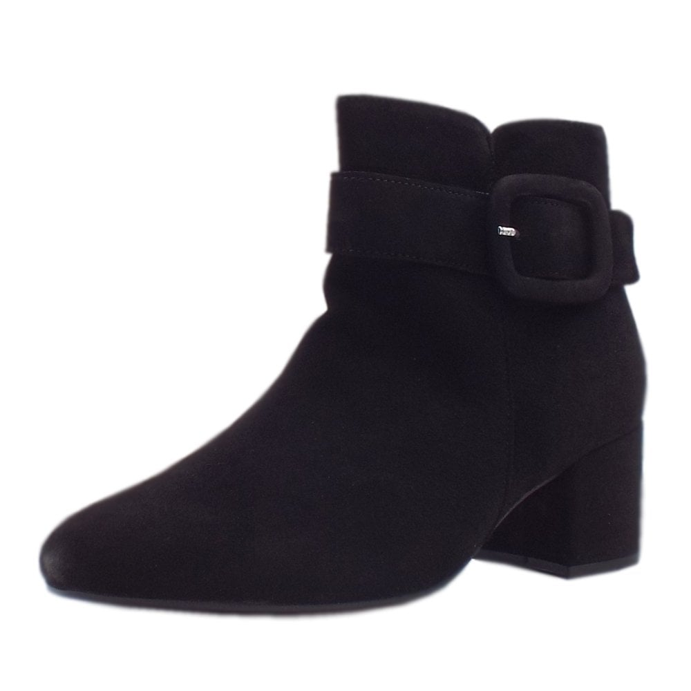 authorized site super specials skate shoes Gabor Capri | Women's Fashion Ankle Boots in Black Suede | Mozimo