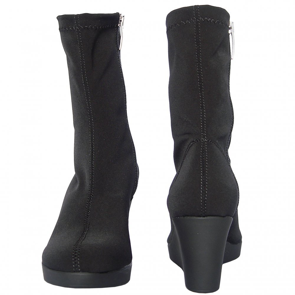 nr rapisardi 2299 stretchy mid calf wedge boots
