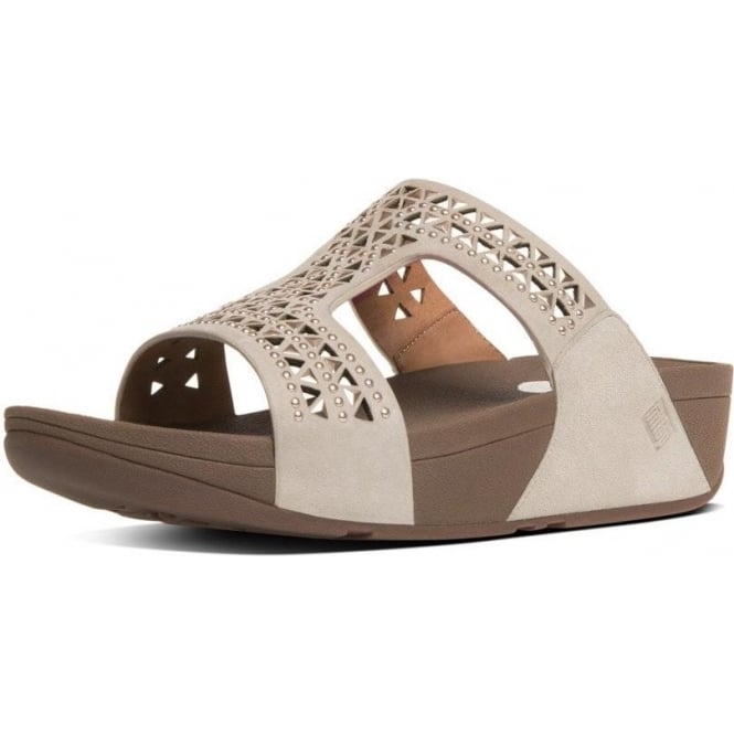 09f6582a0 FitFlop FitFlop Carmel™ Slide Sandals in Rose Gold Suede
