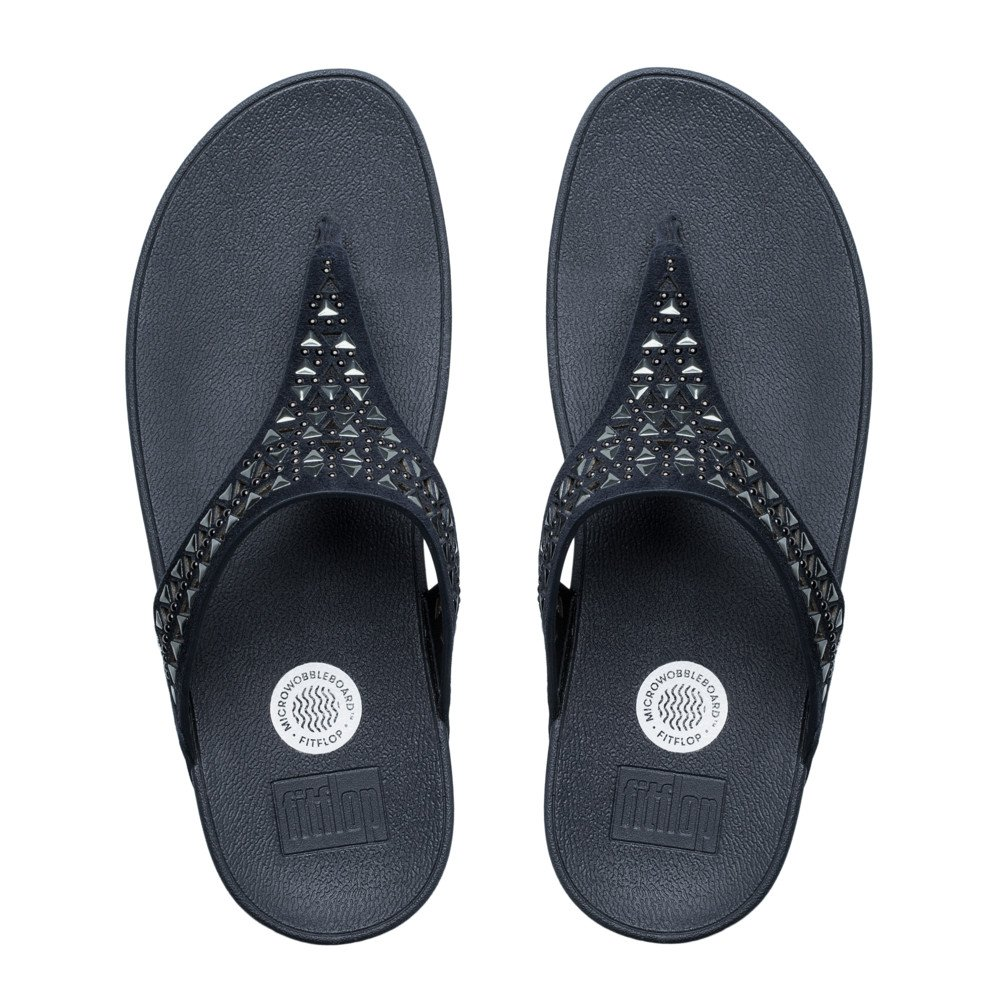 fitflop carmel toe post sandals supernavy suede