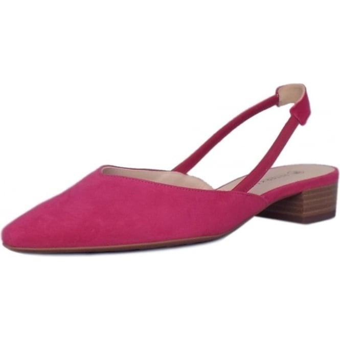 4ed3c2a63 Carsta Women  039 s Dressy Low Heel Sandals in Berry Suede