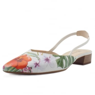 Carsta Women's Dressy Low Heel Sandals in Multi Tropic