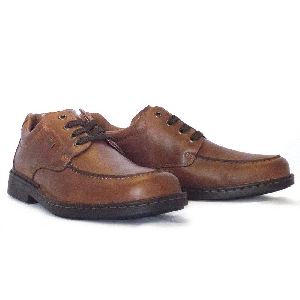 rieker casper 11014 25 mens lace up shoe in brown leather