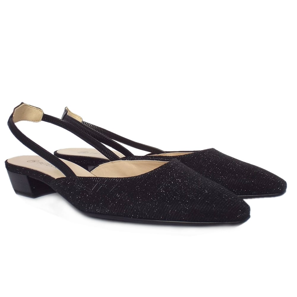 Popular  Womens  Castra Women39s Dressy Low Heel Sandals In Black Shimmer