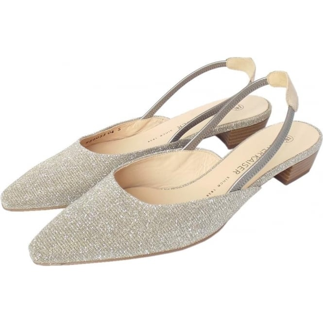 2b739196b63a Castra Women  039 s Dressy Low Heel Sandals in Sand Shimmer