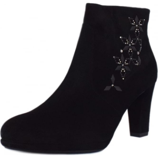 Peter Kaiser Cetin Ankle Boot in Black Suede