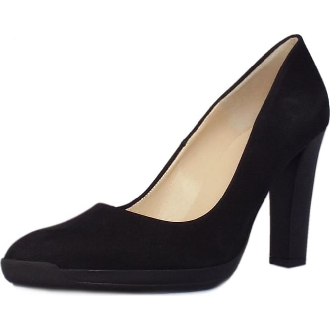 Peter Kaiser Charlien Trendy Rubber Heel Court Shoes in Black Moritz