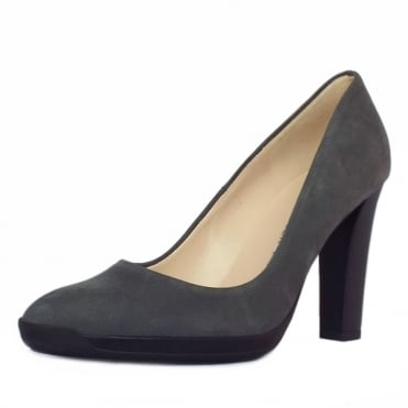 Charlien Trendy Rubber Heel Court Shoes in Fumo Moritz