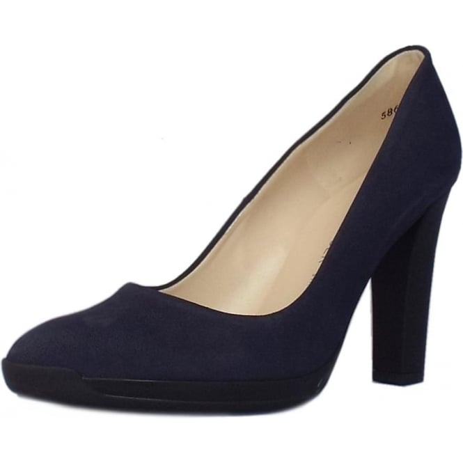 Peter Kaiser Charlien Trendy Rubber Heel Court Shoes in Notte Moritz