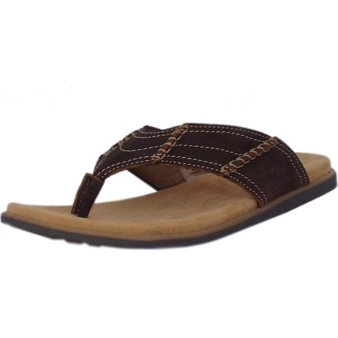 Admiral Mens Brown Leather Sandal