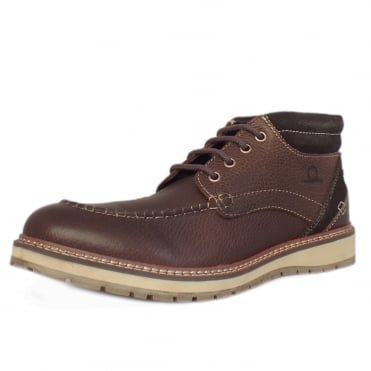 Albion Men's Casual Lace Up Boots in Brown
