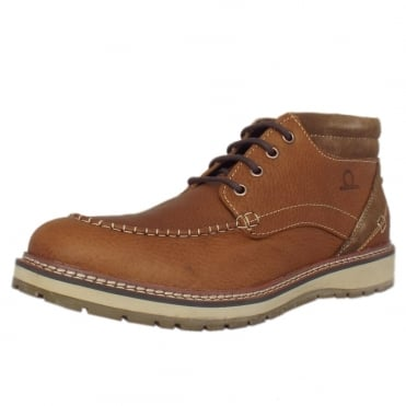 Albion Men's Casual Lace Up Boots in Tan