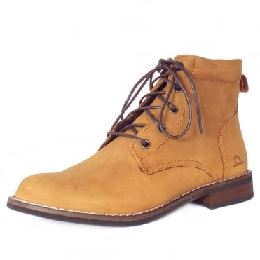 Annie Women's Lace-Up Ankle Boots in Tan