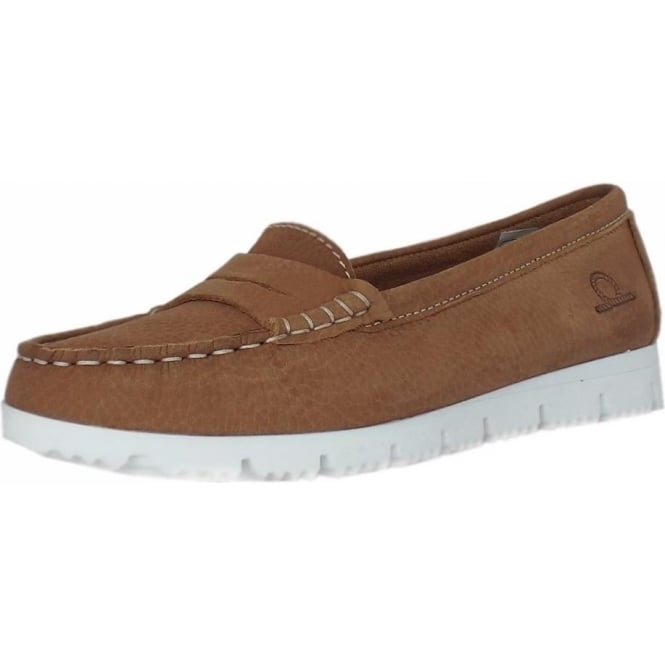 a0884325340 April Women  039 s slip on Loafer in Tan Leather