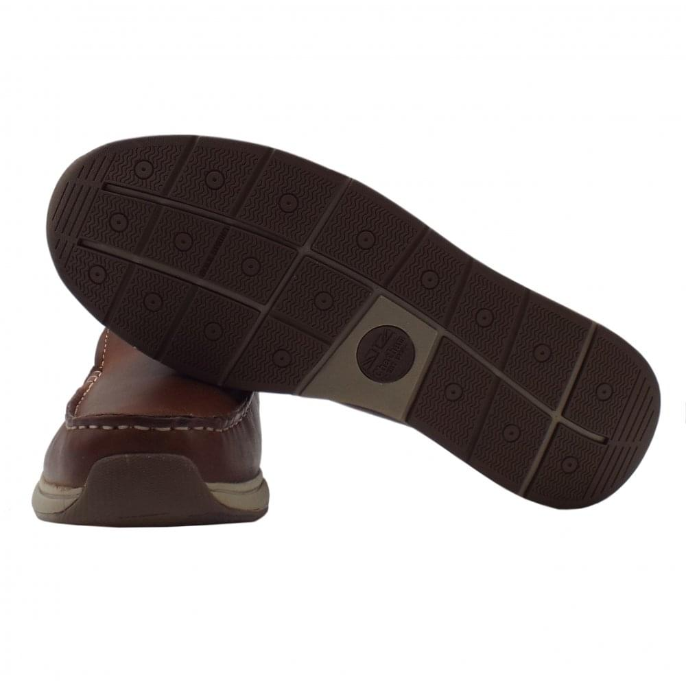 0847fe25db6 Archer Men  039 s Leather Casual Slip On Deck Shoes ...