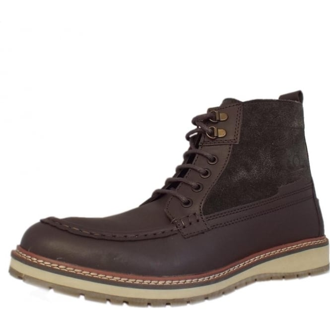 9c8bb968ba51 Carlton Men  039 s Casual High Ankle Boots in Dark Brown