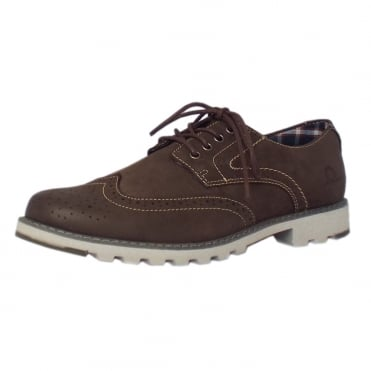 Chase Men's Lace-up Brogue Shoes in Brown Leather