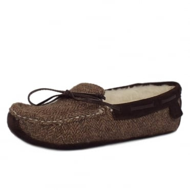 Chatham Eden Harris Tweed Luxury Slippers