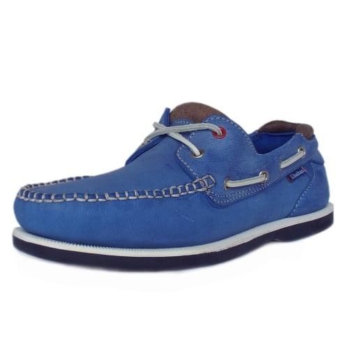 Mens Blue Deck Shoes Skechers