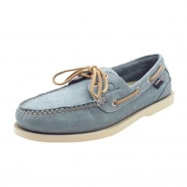 Compass II G2 Men's Leather Boat Shoes in Sky Blue
