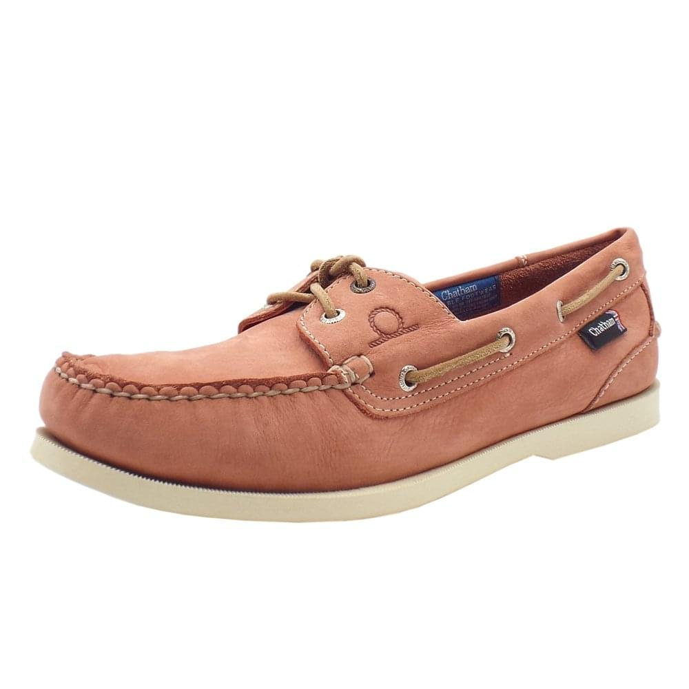 Compass II G2 Men's Leather Boat Shoes in Terracotta