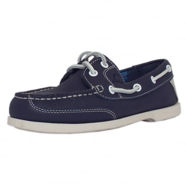 Crest II G2 Women's lace up Boat Shoes in Navy Leather