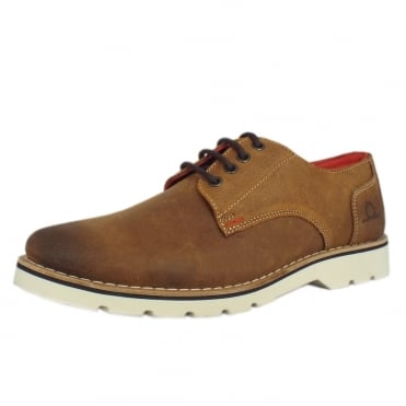 Chatham Marine Dexter Mens Smart-Casual Lace-Up Derby Shoe in Tan Suede