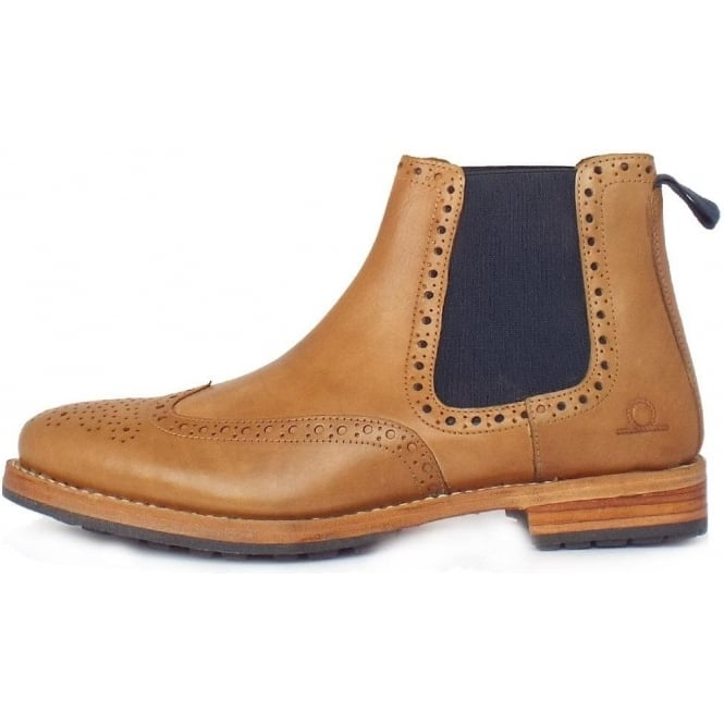 35de80d4a2a8f Chatham Country Dudley | Men's Pull On Chelsea Boots in Tan Leather
