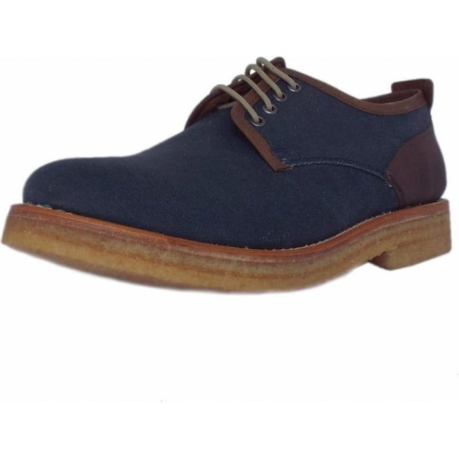 Chatham Marine Embassy Men's Canvas Derby Shoe in Navy