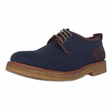 Embassy Men's Canvas Derby Shoe in Navy
