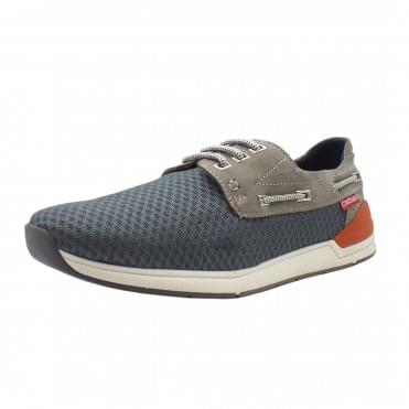 Harbour Men's Mesh Boat Shoes in Grey