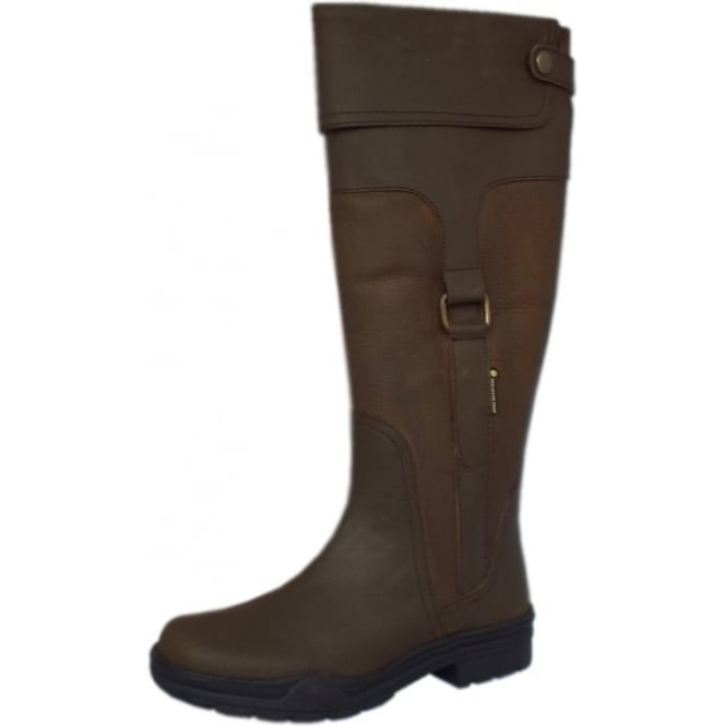 Chatham Marine Haydock Aintree Leather Riding Boot in Brown