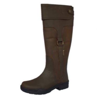 Haydock Aintree Leather Riding Boot in Brown