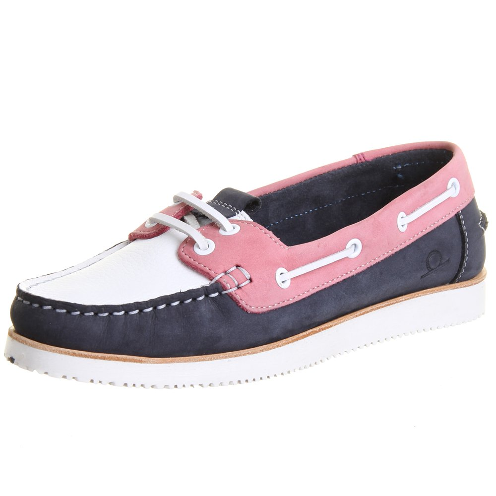 Chatham Marine Panama II | Women's Classis Boat Shoes in Navy and Pink
