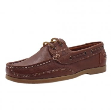 Julie Women's lace up Moccasin Boat Shoes in Brown
