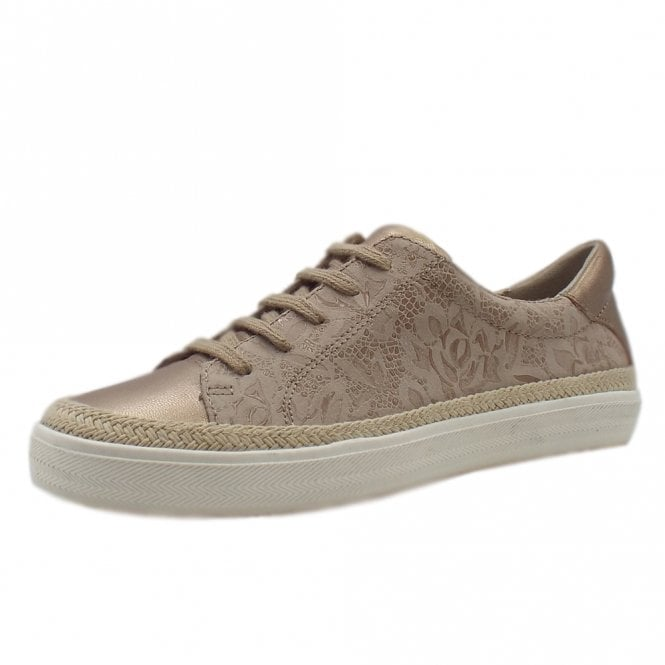 Chatham Marine Margot Stylish Lace-up Trainers in Sand
